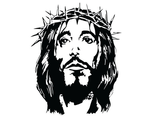 Jesus decal crucifix crown of thorns sticker jesus christ