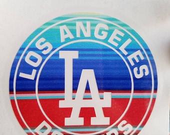 LA Dodgers Vinyl Decal Sarape/ Mexican Blanket print 2