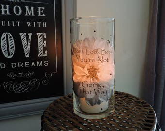 Motivational Candle    Rehab Support Gift   AA Recovery   Sobriety Gift   Alcohol Recovery   Recovery Gift   Inspirational Candle Holder