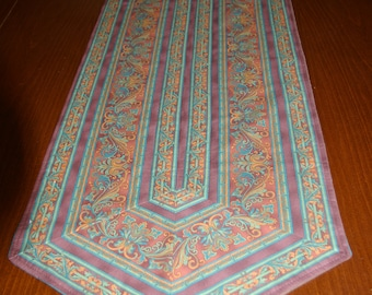 Brown Flowered Table Runner