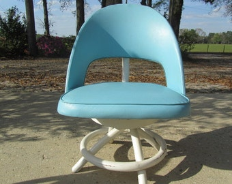 Retro Rattan Chair, Blue Mid Century,dinning chair, porch chair,white chair,wood chair,