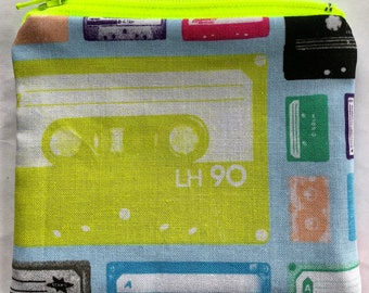 Cassette Tapes Coin Pouch: Retro, Music, Technology.