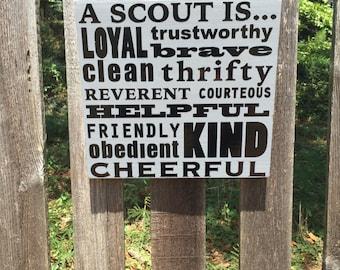 Boy Scout Cub Scout Law Sign