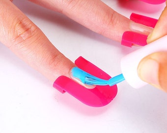 Nail art nail guide for perfect nails, easy clean up for nail coloring, nail stamping, http://www.etsy.com/shop/1supply