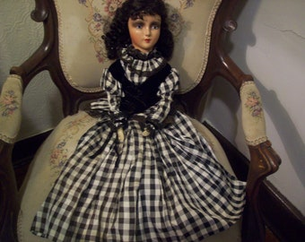 Unusual boudoir doll- 1930s era