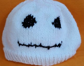 Ghost Beanie - Ghost Hat - Ghost Costume - Halloween Beanie - Adult Ghost Hat - Halloween Costume - Teen  Halloween Hat - Halloween Hat