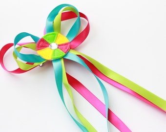 Candyland hair clip - Colorful Hair accessory - Candyland birthday - candyland party favor -