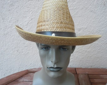 Size 7 1/4 -- Awesome 1960s Cowboy Hat