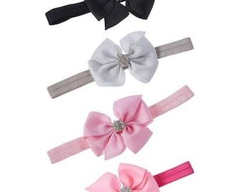 Large Bow Headband Set, Set of 4