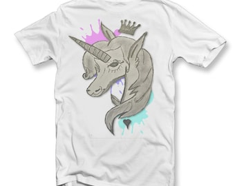 Kids Drawn Unicorn Splat T-Shirt | Unicorns | Magical | Novelty Tee