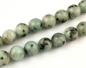 natural lotus jasper beads, round gemstone, semi precious stone beads, 10mm 15''