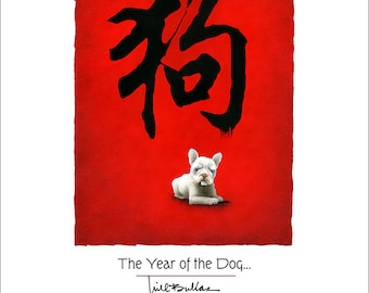 Will Bullas  / art print / the year of the dog / humor / dog / animals