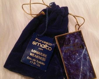 Collectors Favorite Vintage FRANCESCO SMALTO Pour Homme Eau De Toilette 5mL .17 fl oz w/ Dust Bag Vintage Cologne 100% Full