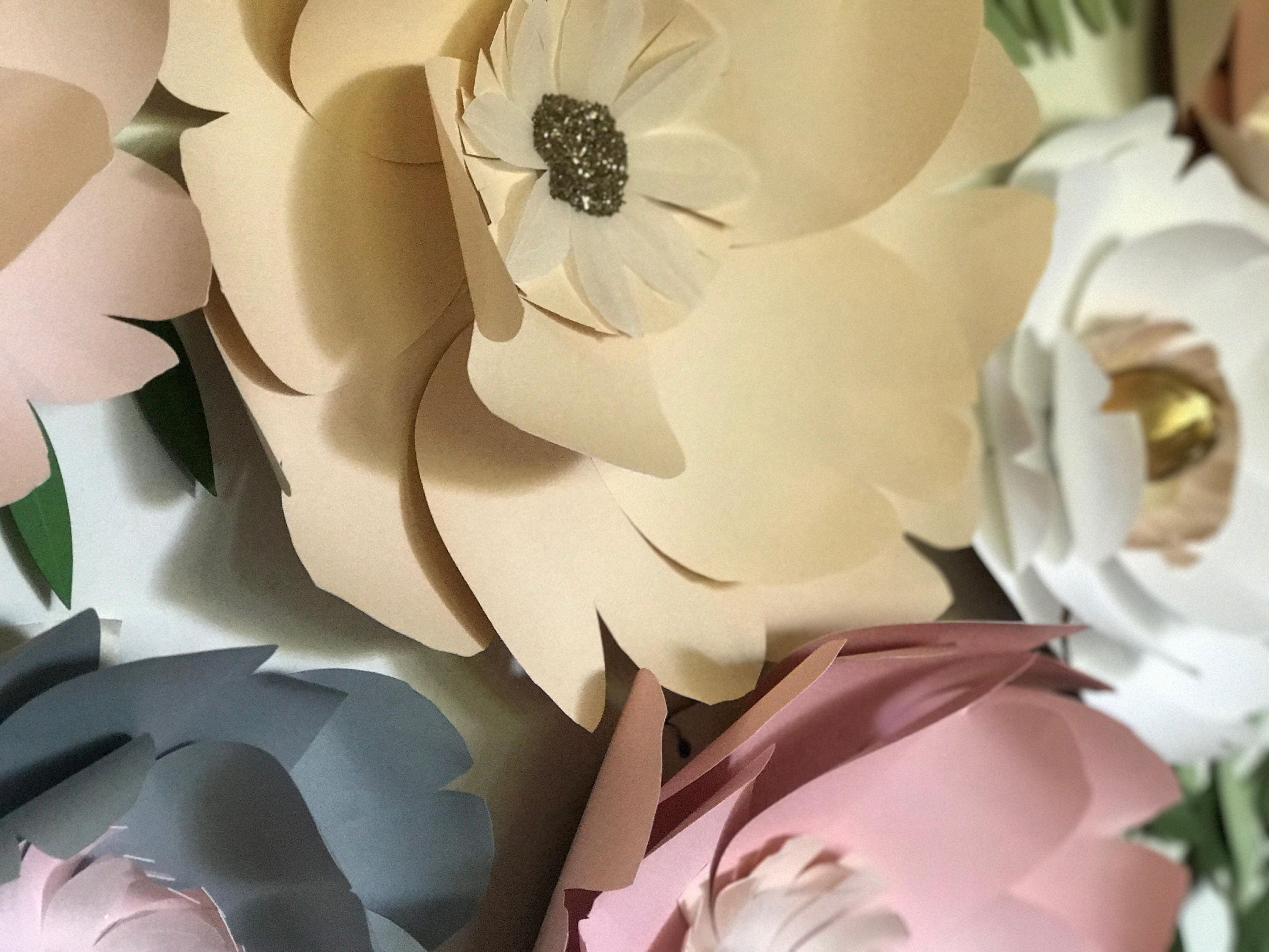 Modern Paper Flower Wall Decorations Photo - The Wall Art ...