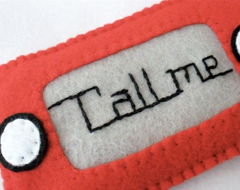 Felt Etch-A-Sketch Phone Case,  Custom Embroidered Novelty Case, Personalized IPhone Cozy