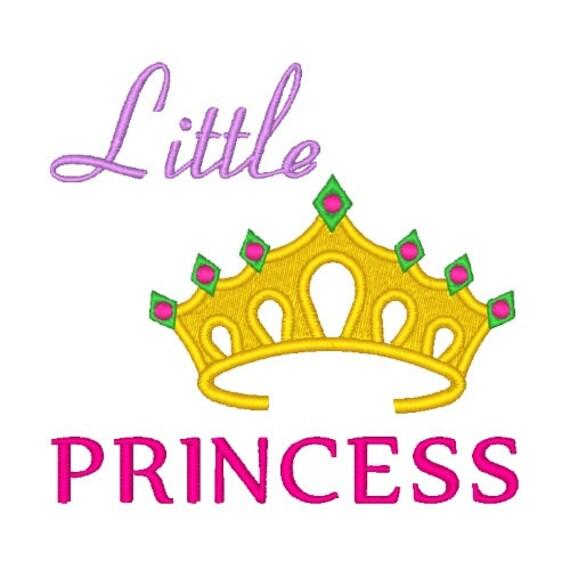 Little Princess Machine Embroidery Design Princess Embroidery