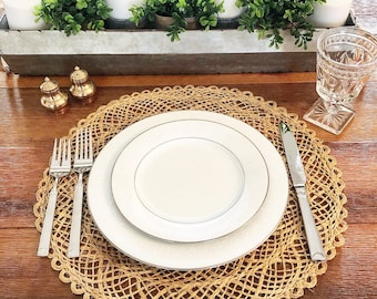 Vintage Set of 4 Woven Placemats