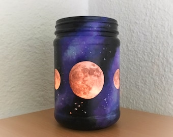 Moon Phases Galaxy Candle Holder