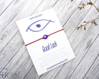 Evil Eye Bracelet, Blue Evil Eye Bracelet, Red String Bracelet, Eye Bracelet, Protection Bracelet, Kabbalah Evil Eye, Lucky Charm, Talisman