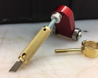 Sharpner jig for DuaneWatts swivel knife