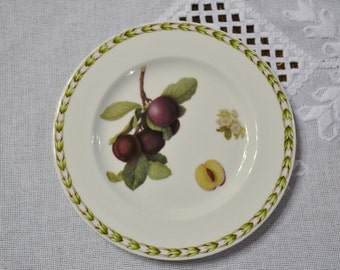 Vintage Queens Hookers Fruit Bread Dessert Plate Plum Blossom Royal Horticultural Society England PanchosPorch