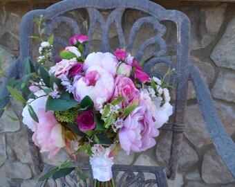 Bridal Bouquet, Brides Bouquet, Wedding Bouquet, Wedding Flowers, Wedding Decor, Brides Bouquets,  Peony Hydrangea Bouquet, Garden Bouquet