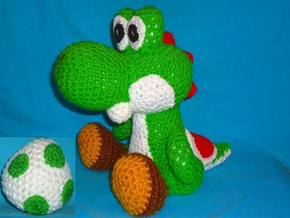 Amigurumi Yoshi Tutorial : Yoshi pattern crochet dinosaur pattern crochet amigurumi