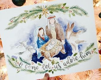 Nativity Scene Print