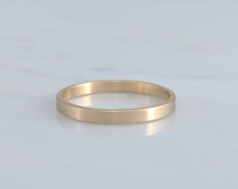 Solid 14K Gold Thin Wedding Band | 2mm Band | Gold Band | Wedding Ring | Gold Ring | Simple Wedding Ring | Yellow Gold | Minimal | Jewelry