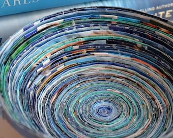 Green/Blue Recycled Magazine Bowl