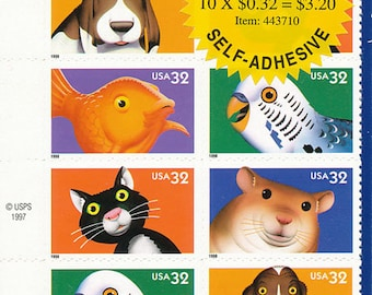 1997 Bright Eyes Sheet of Stamps