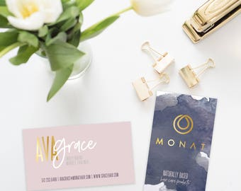 MONAT Business Cards - DIGITAL FILE only