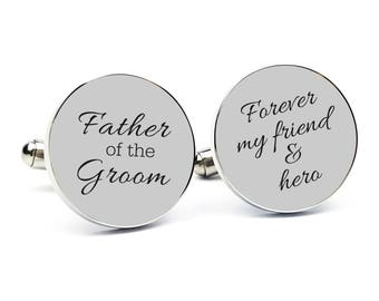 Personalized Cuff links Engraved Cufflinks Round Cufflinks Cuff link Gifts for Him Father of the Groom Gift Father of the Groom Cufflinks 2