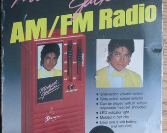 Michael Jackson Transistor Radio with Box Made by ERTL 1984