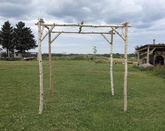 White Birch Wedding Chuppah