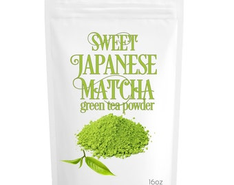 Sweet Japanese Matcha Green Tea Powder- perfect for making Latte & Frappe , 100% Natural, FREE USA 1-3 Day Shipping