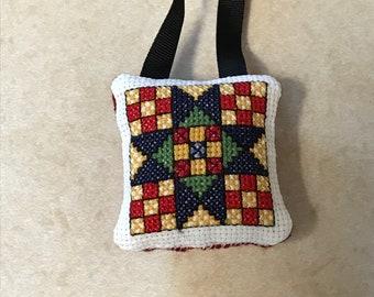 Star of Hope quilt block ornament