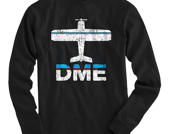 LS Fly Moscow T-shirt - DME Airport Long Sleeve Tee - Men and Kids - S M L XL 2x 3x 4x - Moscow Russia Shirt, Russian - 2 Colors