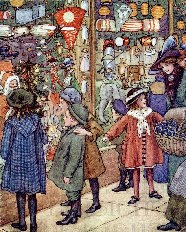 RARE Fantastico TOY Shop Window Digital Vintage Illustration