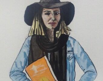 figurative portrait of meditation guide Biet Simkin