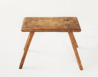 rustic stool height 10,82""