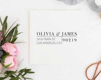 Return Address Stamp, Address Stamp, Custom Address Stamp, Wedding Return Address Stamp Personalized Return Address Stamp Rubber Stamp No.51
