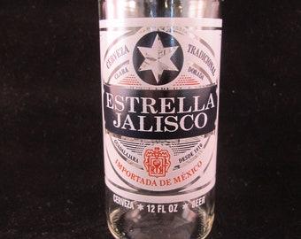 YAVA Glass - NEW -- Upcycled Estrella Jalisco Beer Bottle Glass
