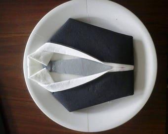Folding napkin suit shirt tie (set of 30)