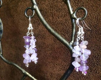 Amethyst Chip Earrings