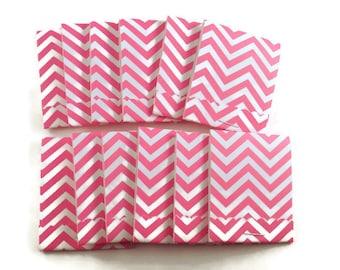 20  Matchbook Notepads  Matchbook Favors in  Hot Pink Chevron