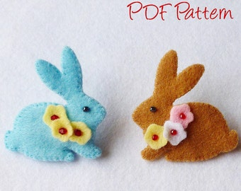 Bunny Brooch Pin pdf Sewing Pattern