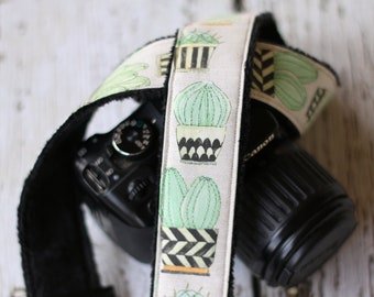 Cute Cactus - Camera Strap for dSLR cameras