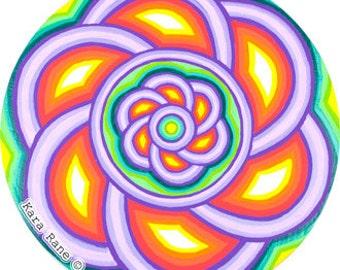 Cosmic Circle, Awaken,Spiral, Fractal, Meditation, Spiritual Gift, Window cling, No adhesive Vinyl sticker, EcoFriendly, Flower, Suncatcher