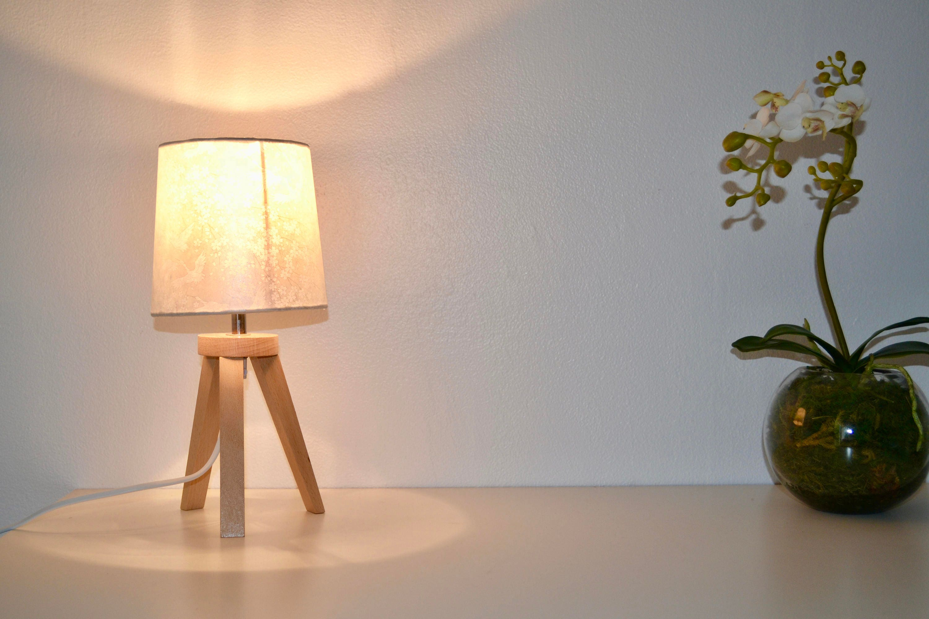 Compass and japanese paper table lamp mozeypictures Gallery